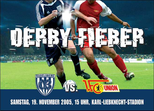 Babelsberg 03 vs. Union Berlin: Derby-Fieber